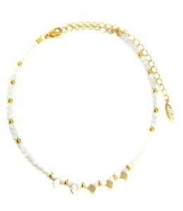 ettika Darla Choker in Mother of Pearl and Gold