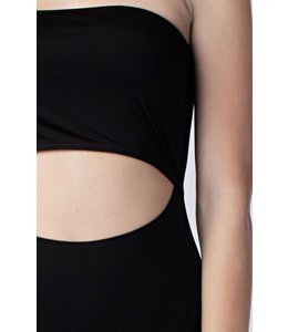 Honey Punch Black Waist Cutout Bodysuit