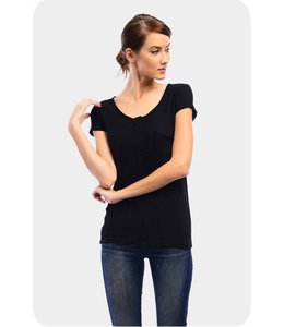 Able USA Cute As A Button Black tee