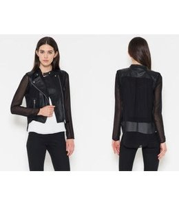 FATE Black Chiffon Zip Jacket