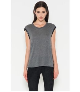 FATE Trimmed Charcoal Sleeveless Top