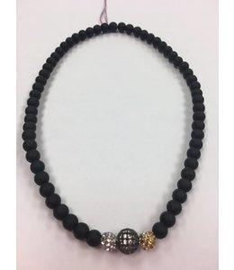 3-bead Sparkle Choker/Wrap