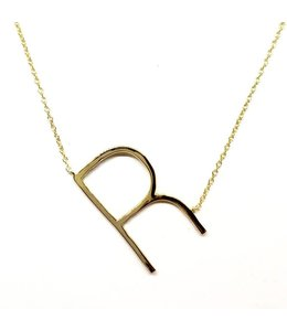 Alix Fray Initial Necklace Gold R