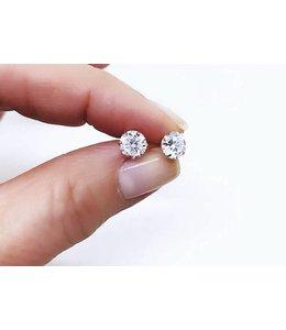 Alix Fray 14KT CZ Stud Earrings 1/3 carat White Gold