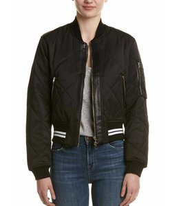 FATE Black Quilted Bomber Jacket