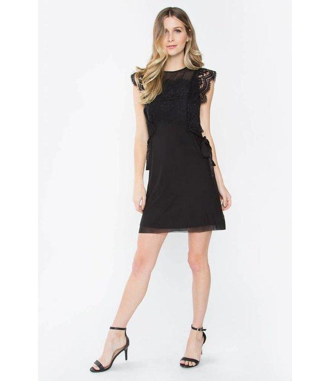 Black Lace Bib Dress
