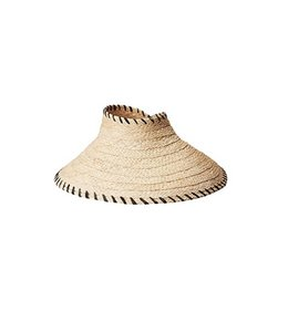 Hat Attack Roll-up Travel Visor Natural/Black