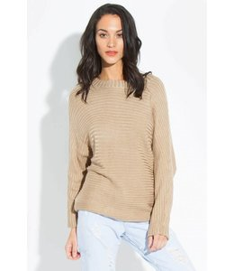 Tan Knit Raglan Sweater