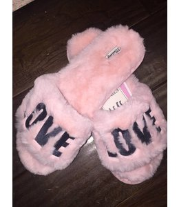 PJ Salvage Love & Kisses Fur Slides