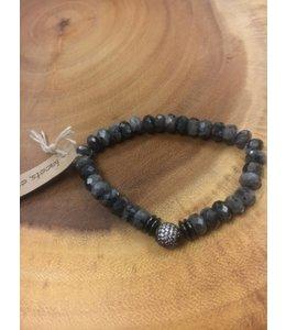 Facets, etc Black Laboradite Micro Pave Bracelet
