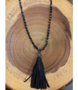 Facets, etc Leather Tassle