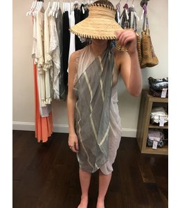 Pool to Party Grey Powder Striped Free Spirit Coverup