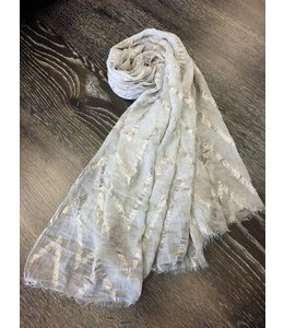 Spun Shimmer Zig Zag Taupe Scarf