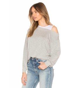 Bobi Heather Grey Layered Sweatshirt