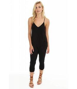Bobi Black Pocket Jumpsuit