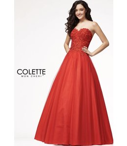 Colette by Mon Cherie Glamorous Red Sweetheart Ball gown