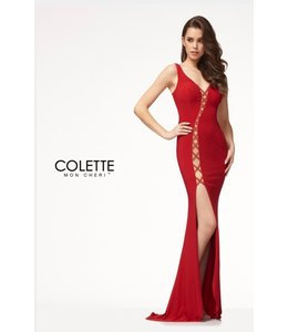 Colette by Mon Cherie Bold Sexy Cut Out Jersey Dress CL18287