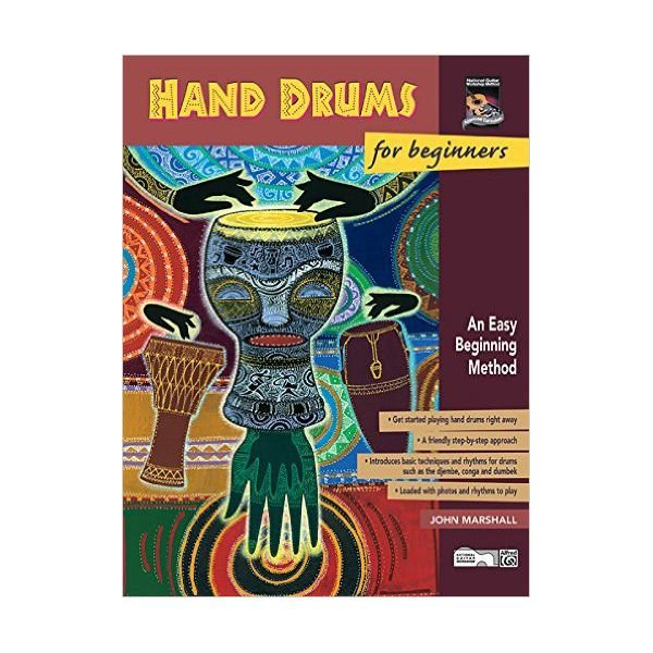 Alfred Publishing Hand Drums For Beginners by John Marshall; Book & CD