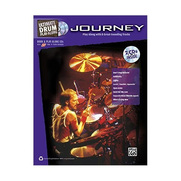 Alfred Publishing Ultimate Drum Play-Along: Journey; Book & 2 CDs