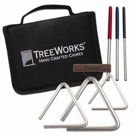 TreeWorks TreeWorks Made In USA Studio-Grade Triangle Set with Beaters & Bag