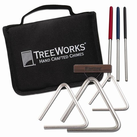TreeWorks Made In USA Studio-Grade Triangle Set with Beaters & Bag