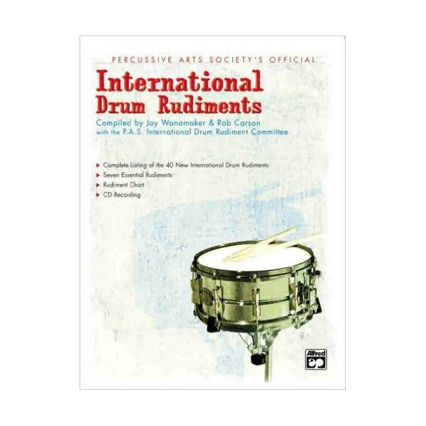 Alfred Publishing International Drum Rudiments By Rob Carson and Jay Wanamaker; Book and CD
