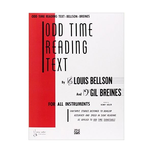 Alfred Publishing Odd Time Reading Text By Louis Bellson and Gil Breines; Book