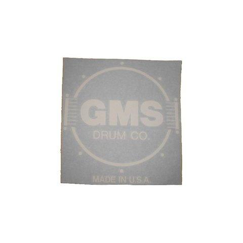 GMS Bass Drum Logo Decal - White