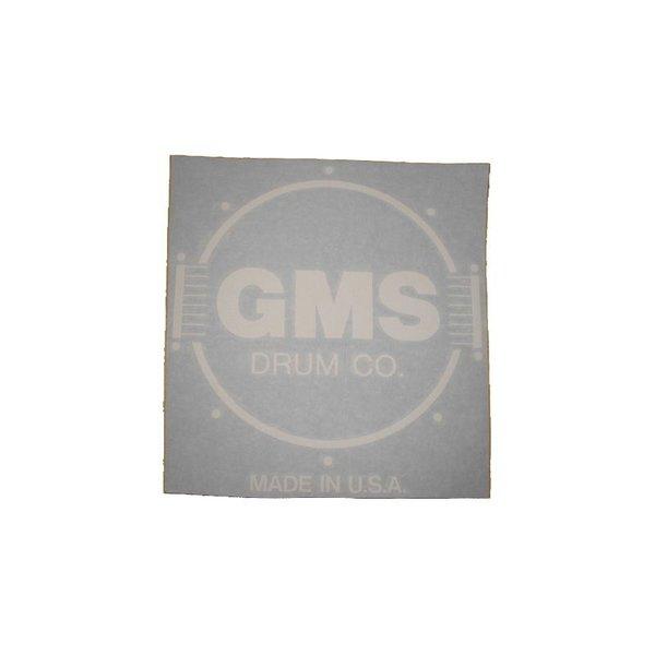 GMS GMS Bass Drum Logo Decal - White