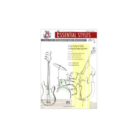 Essential Styles For the Drummer and Bassist Book 1 by Steve Houghton and Tom Warrington; Book & CD