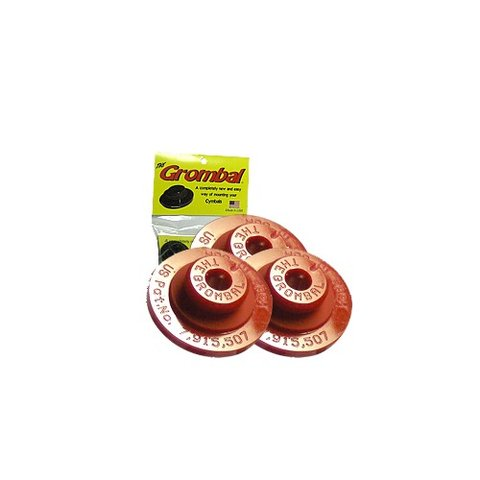 Grombal Cymbal Grommet 3 Pack; Red