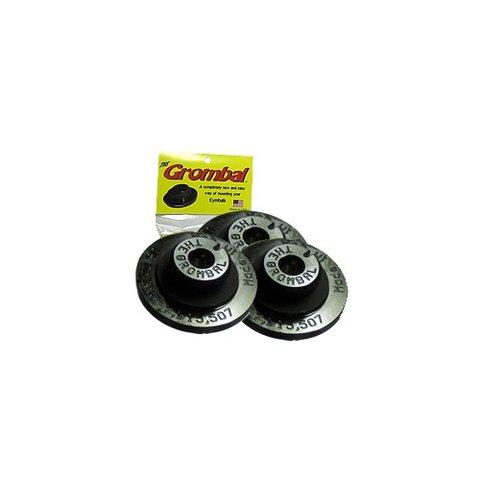Grombal Cymbal Grommet 3 Pack; Black