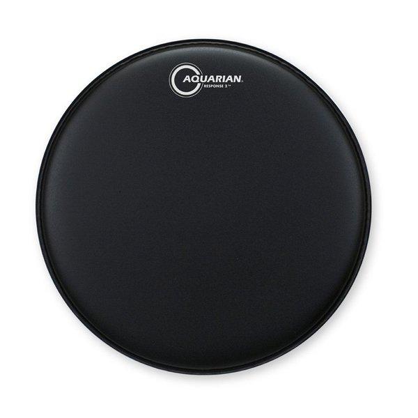 "Aquarian Aquarian Response 2 Series Texture Coated 18"" (2-Ply) Drumhead - Black"