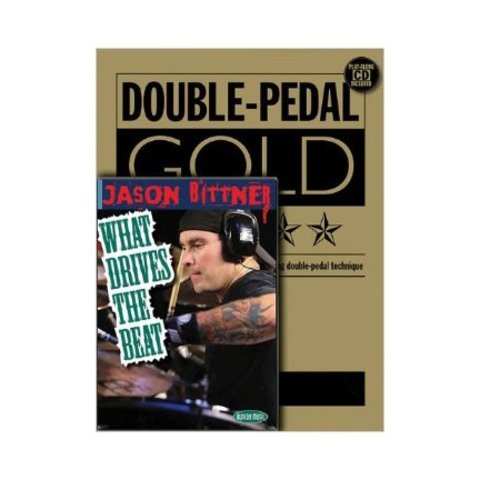 Double Bass Drumming Package: Double Pedal Gold By Joe Morton (Book & CD) and What Drives The Beat by Jason Bittner (DVD)