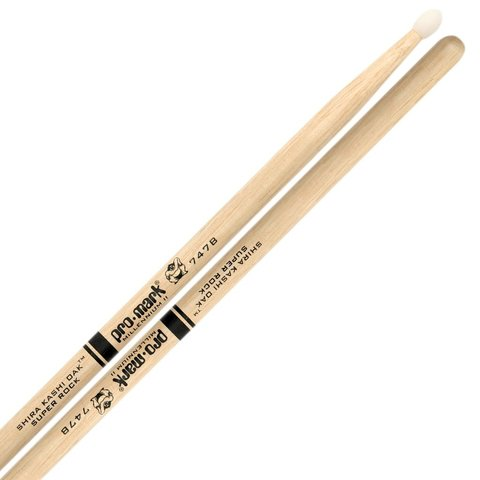 "Promark Oak 747B Nylon Tip ""Super Rock"" Drumsticks"
