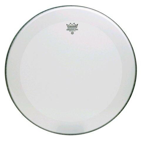 "Remo Smooth White Powerstroke 3 - 22"" Diameter Bass Drumhead - Dynamo with No Stripe"