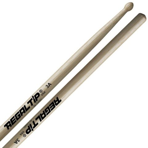 Regal Tip Classic Hickory Nylon Tip 3A Drumsticks
