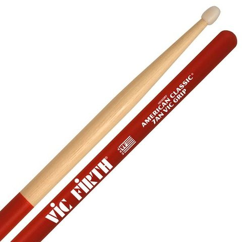 Vic Firth American Classic - 7AN - Nylon Tip Drumsticks with Vic Grip