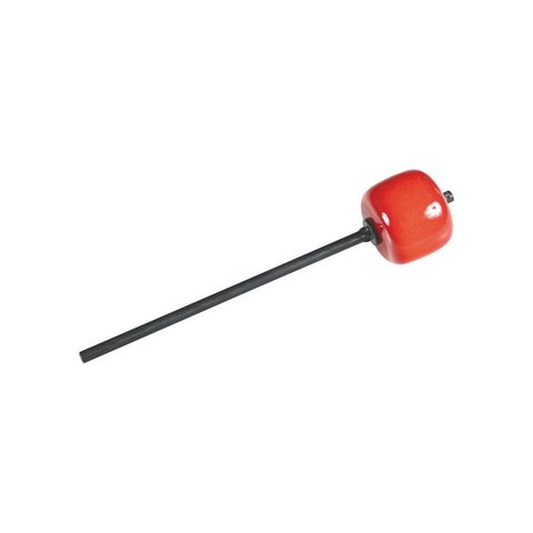 Danmar Bass Drum Beater; Red Hard Wood, Black Shaft
