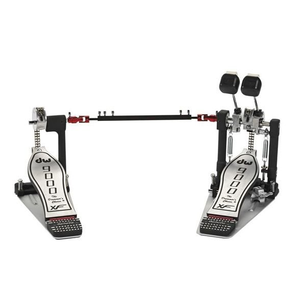 DW DW 9000 Series Double Bass Drum Pedal with Extended Footboard and Case