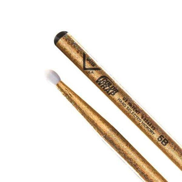 Vater Vater Color Wrap 5B Gold Sparkle Nylon Tip Drumsticks