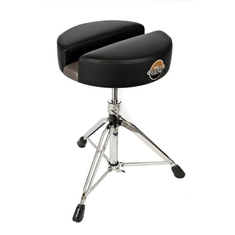 "Carmichael Throne 13"" Black Vinyl Short Spindle Drum Throne"