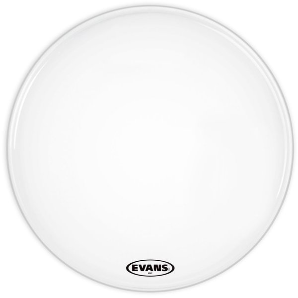 "Evans Evans MX2 White Marching 22"" Bass Drumhead"