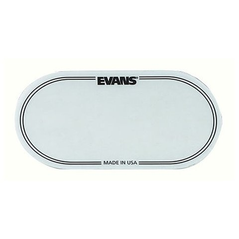 Evans Clear Polyester Bass Drum Patch Double Pedal (2 Pack)