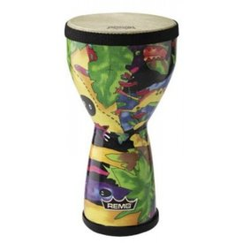 Remo Remo Kids Percussion 6 Diameter 10 Height Doumbek - Rain Forest Fabric