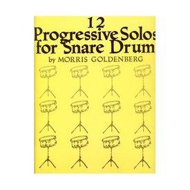 Hal Leonard 12 Progressive Solos for Snare Drum by Morris Goldenberg; Book