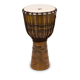 Toca Toca 12 Origins Series Rope Tuned Wood Djembe, African Mask Finish