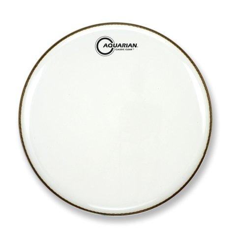 """Aquarian Classic Clear Series 18"""" Bass Drumhead - White"""