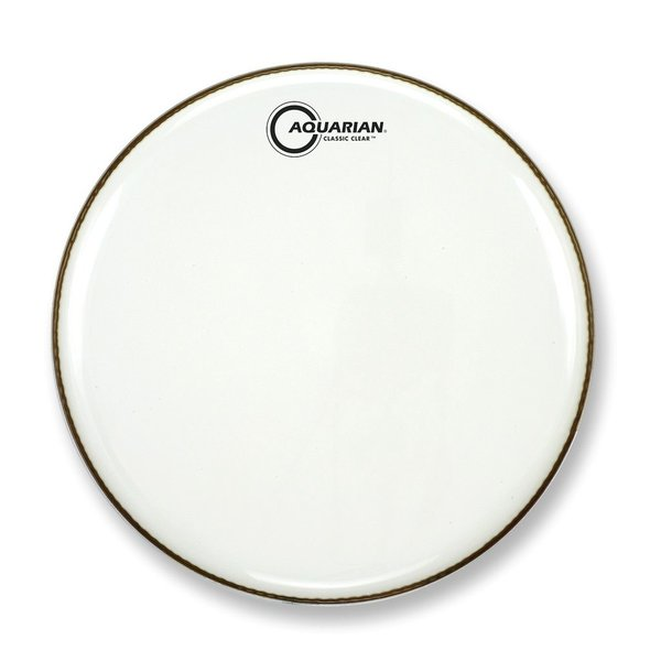 """Aquarian Aquarian Classic Clear Series 18"""" Bass Drumhead - White"""