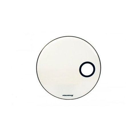 "Aquarian Ported Small Hole 24"" Bass Drumhead - White"